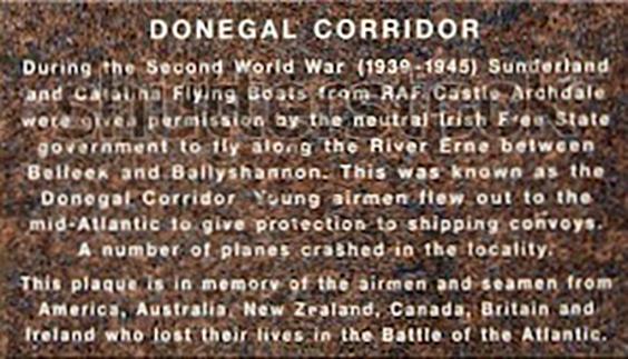 Plaque on the Belleek Bridge