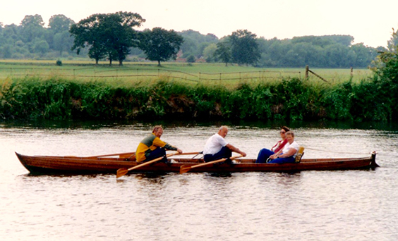 Late 19th Century skiff 'Tubby Bryant' built at Eton College