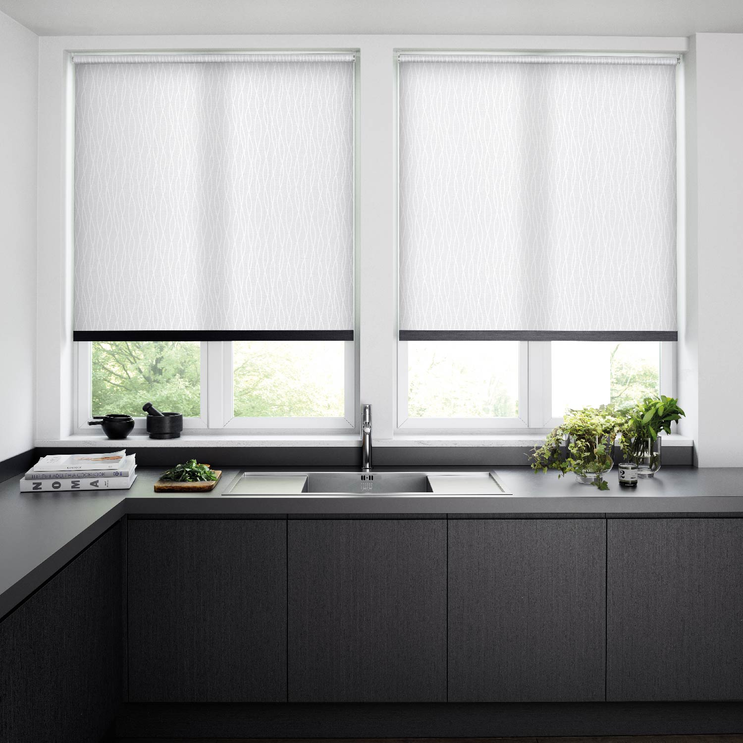 Roller Blinds - The clean lines of a roller blind offers elegant yet functional window blind solution. Coloured and printed fabrics merged with an imaginative collaboration of designs presents a diverse fabric portfolio.Features–Stunning roller blind fabric designs–A tremendous collection of colours–Translucent fabrics to gently filter the sunshine–Blackout fabrics to gently filter the sunshine –Energy saving roller blind fabrics