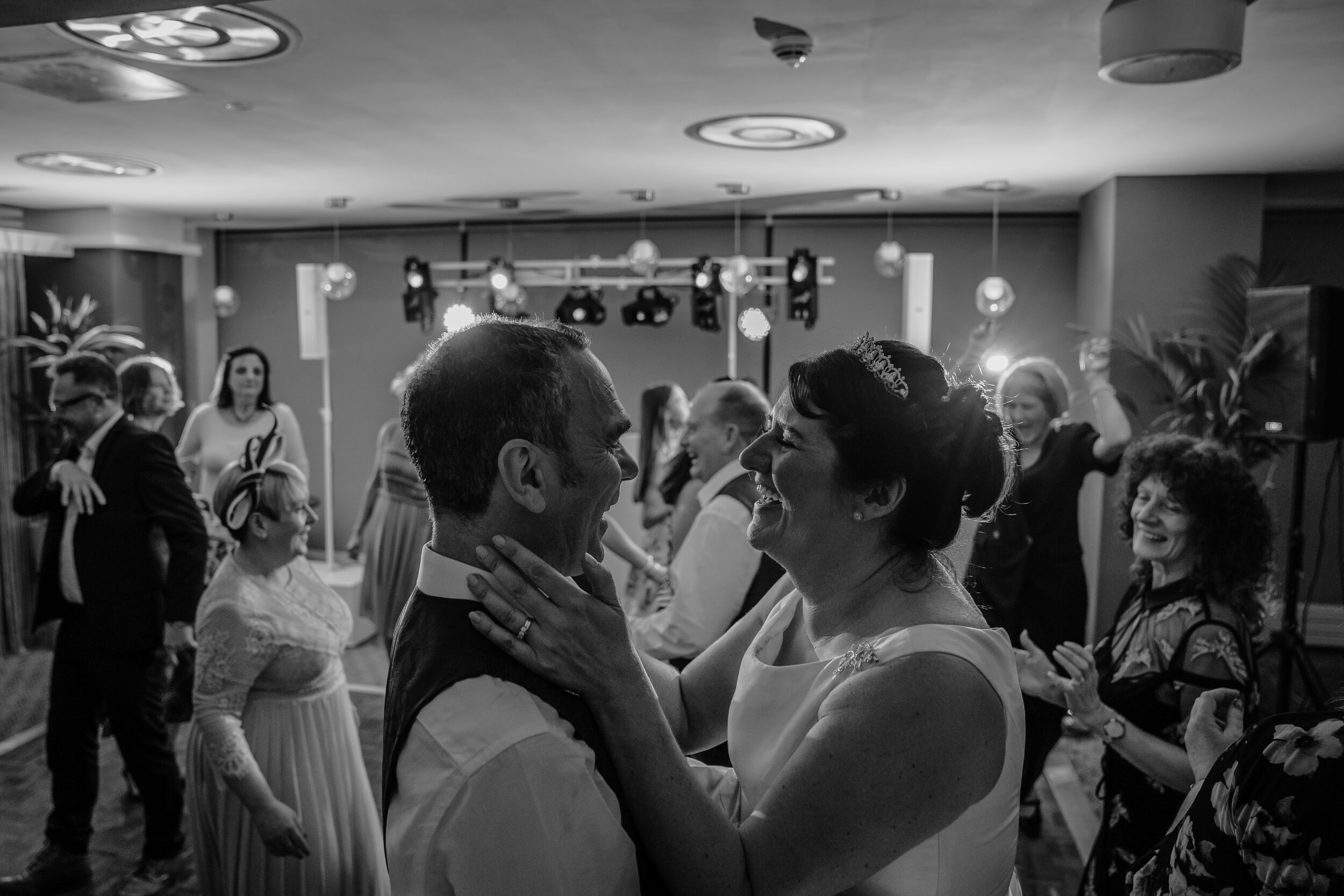Bride & groom first dance wedding photography