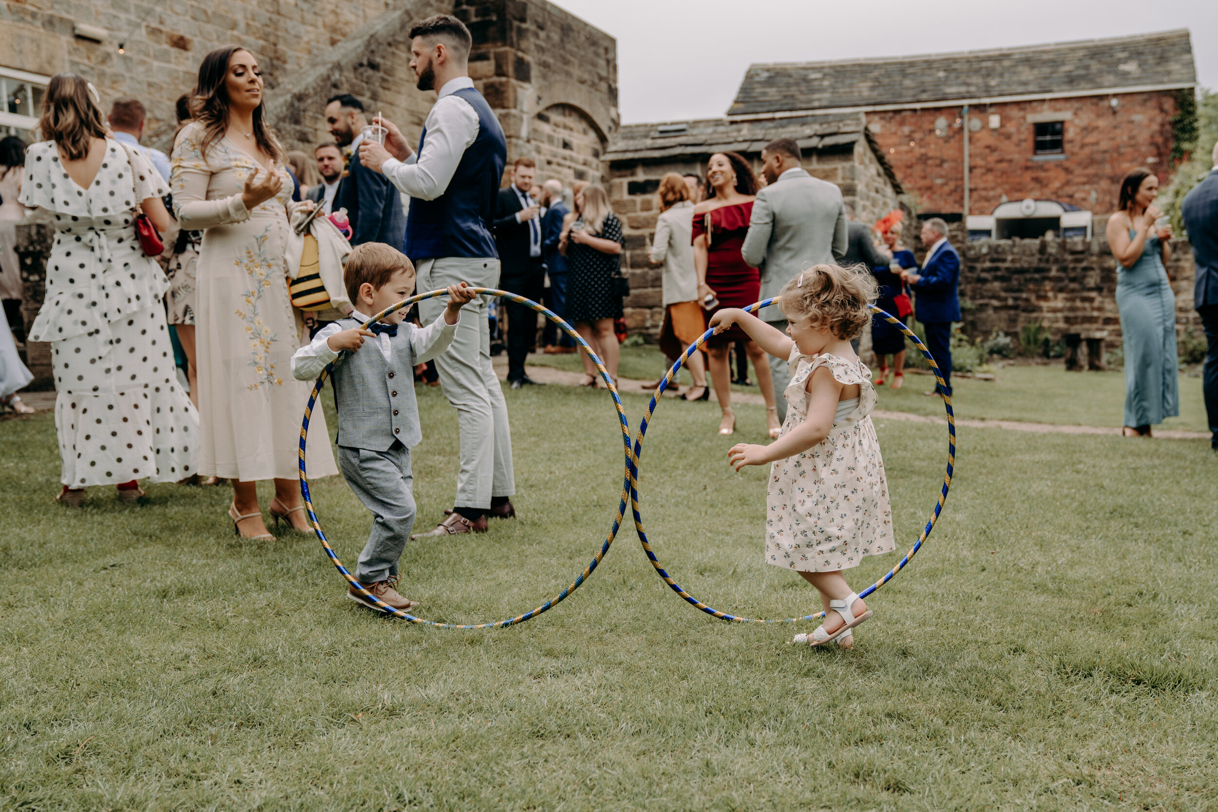 Kids playing at weddings