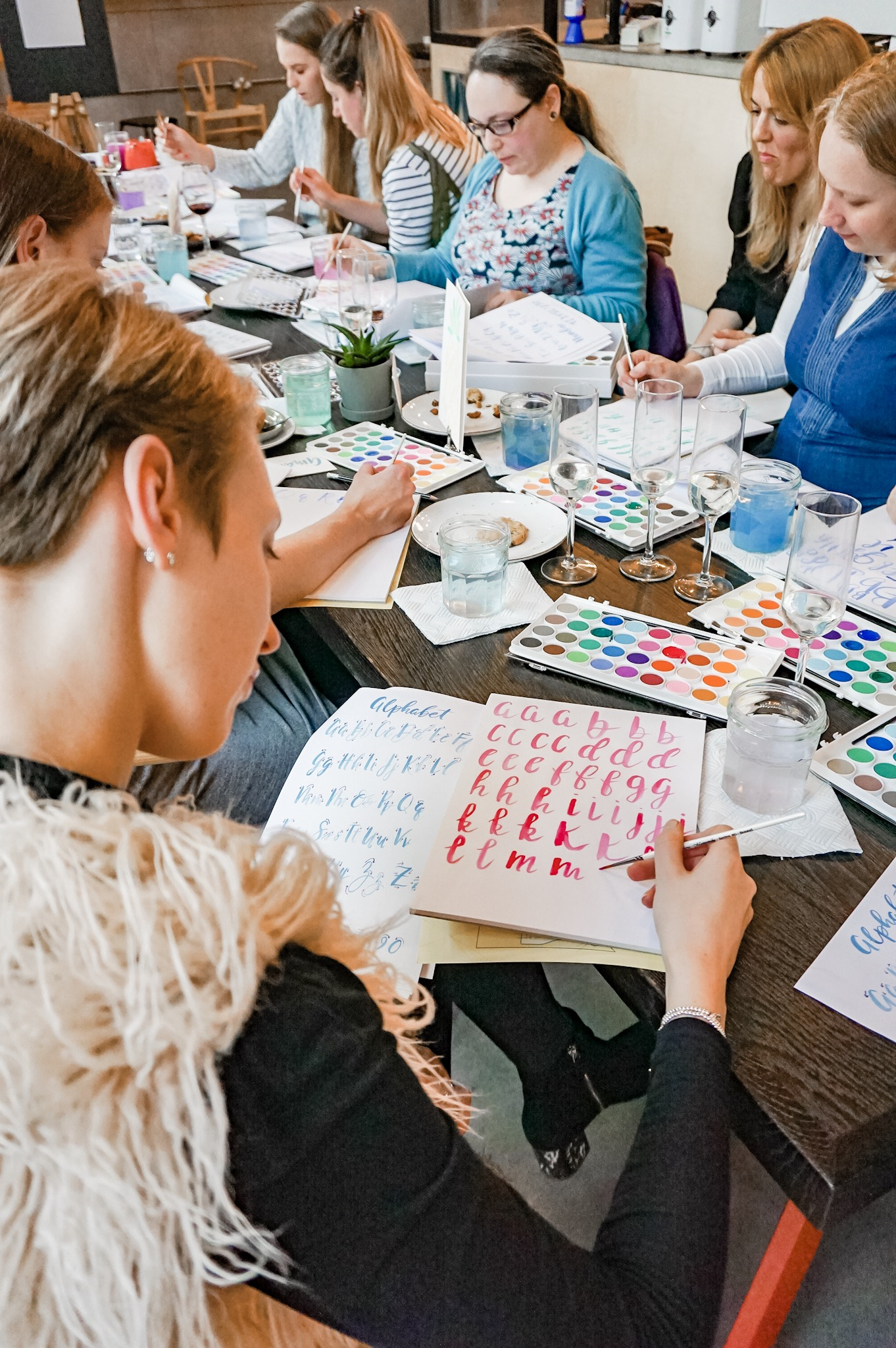 watercolour brush lettering calligraphy class leeds yorkshire phylecia sutherland