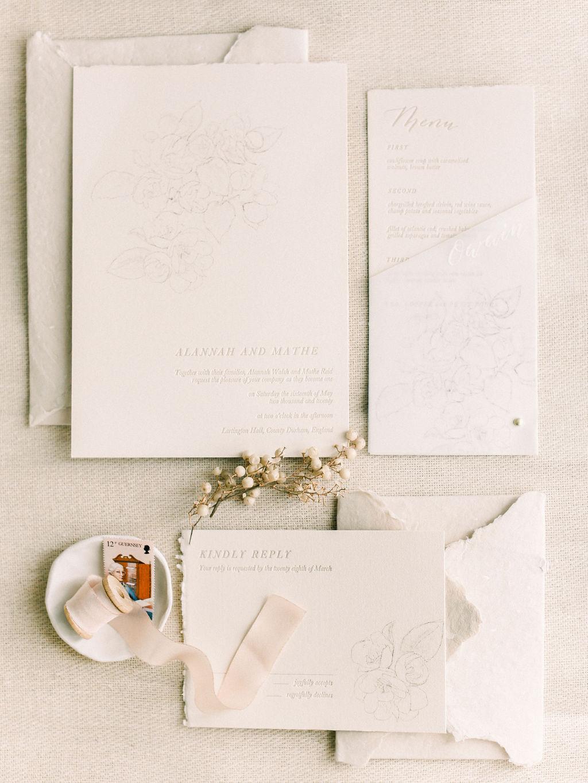 charcoal illustrations belle etoile mock orange letterpress vellum handmade paper