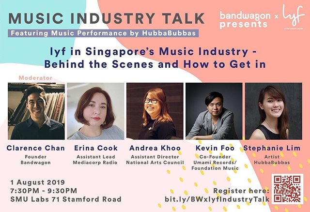 happening tonight! our co-founder @kevinfoomusic will sharing insights on the music scene for a music industry talk alongside other amazing people in the scene! do remember to RSVP your tickets on @bandwagonasia ⚡️