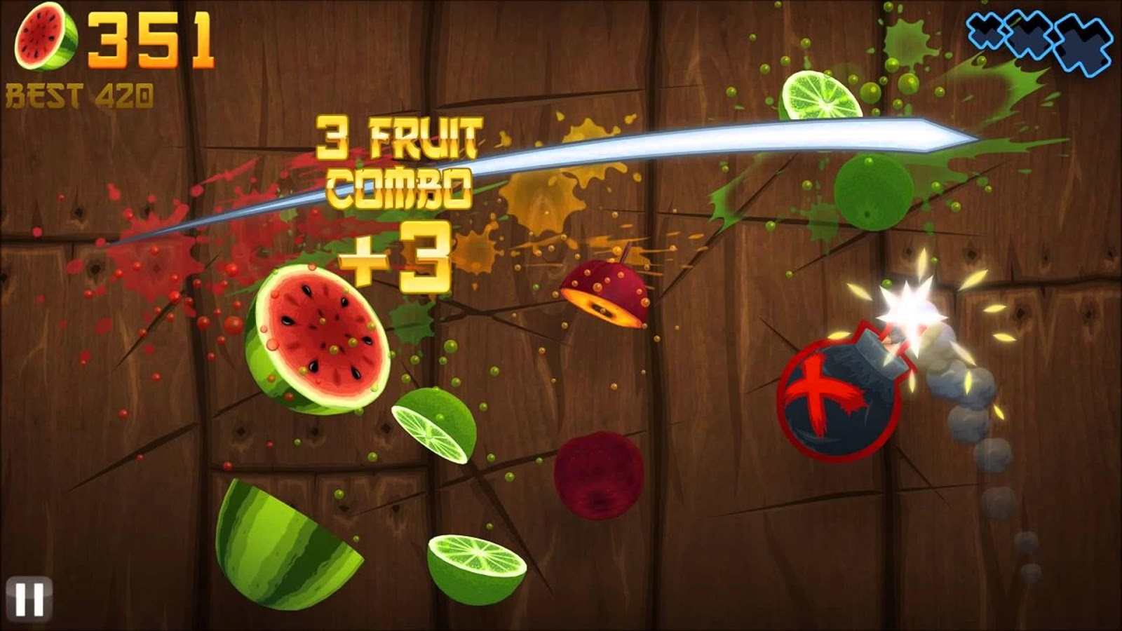 he Fruit Ninja mobile game in all its plant-bisecting goodness