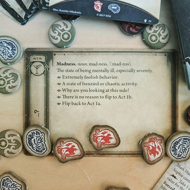 This text does not exist.⠀ Why are you reading this text?⠀ Please flip back. You never saw this text.⠀ 🐙🐙🐙⠀ The #ArkhamHorror Card Game is an absolutely incredible experience! I never enjoyed #Cthulhu themed board games but bought this after reading so many glowing reviews, and now I'm absolutely crazy about it. The game pulls you into the world with its gorgeous art, detailed backstories, and intriguing campaign arcs, and I've actually been inspired enough by the theme to start reading some of the original stories set in the Cthulhu mythos.⠀ 🐙🐙🐙⠀ If you enjoy cooperative boardgames, brutally challenging gameplay, and immersive storytelling with a touch of roleplaying, you definitely need to try the Arkham Horror LCG!⠀ .⠀ .⠀ .⠀ .⠀ @fantasyflightgames #arkhamhorrorlcg #arkhamhorrorcardgame #lovecraftgame #lovecraft #cthulhumythos #cthulhugame #cthulhu #cthulhutheme #cthulhuboardgame #fantasyflightgames #fantasyflight #ffg #boardgamesofinstagram #boardgamephotography #boardgamephotos #tabletopphotography #boardgames #boardgame #boardgaming #boardgamenight #gamenight #boardgamegeek #analoggames #tabletop #tabletopgames #tabletopgaming #bgg #brettspiel
