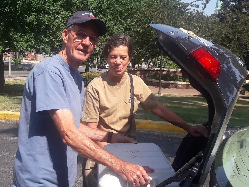 Bob and Sally Warner  deliver to several people in the East End of York usually one time a week. They find delivering meals to the older adults as a satisfying activity and they hope that someday if they need this service, somebody will be willing to deliver meals to them and help them out.