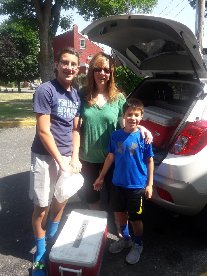 "Meet Jennifer Gibson and her two sons, Nate and Andrew . Jennifer delivers every other week and her sons like to tag along in the summer and over their school breaks. Read why they like to deliver meals at such a young age...    Nate    - ""It makes you feel good to help others because one day you may need help too!""    Andrew  -  ""I like to deliver meals to spend time with my mom and you get a GOOD FEELING helping others out!""     Jennifer    - ""I deliver meals for the Lord!"""