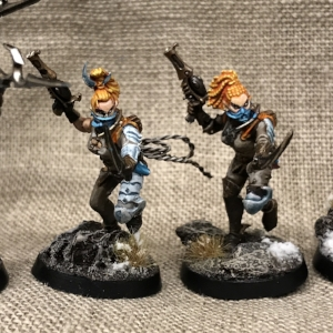Converted Wyches with Pistol and Cutters.