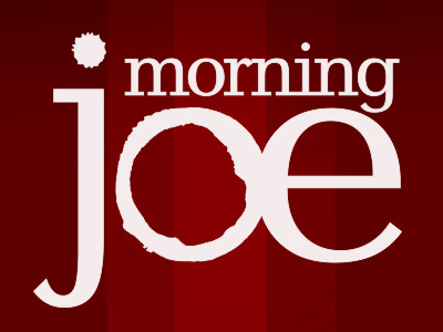 LIVE INTERVIEW ON MORNING JOE - Tuesday, April 30th 20198.30am