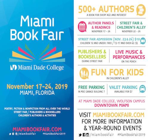 Miami Book Fair - Saturday, November 23rd- 24th 2019