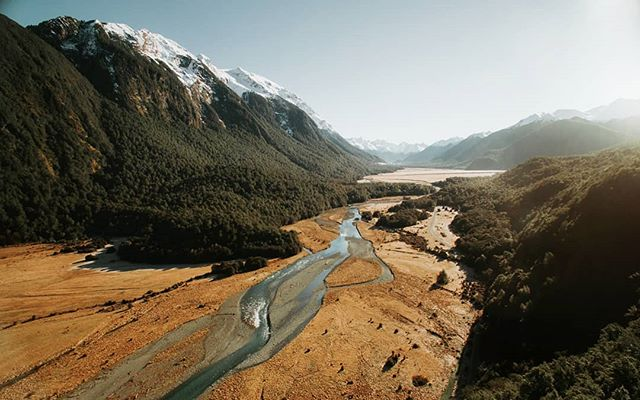 The drive to Milford Sound has some of the most amazing landscapes I've ever seen 😍  #newzealand #newzealandvacations #milfordsound #purenewzealand #fromwhereidrone #djiglobal #droneoftheday theday