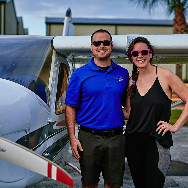 On her way to get her pilot's license! She has solo'd twice already, keep kicking ass Lisa! @firstlandingsx04 @skywalkr89  #pilot #pilotlife #lightsport