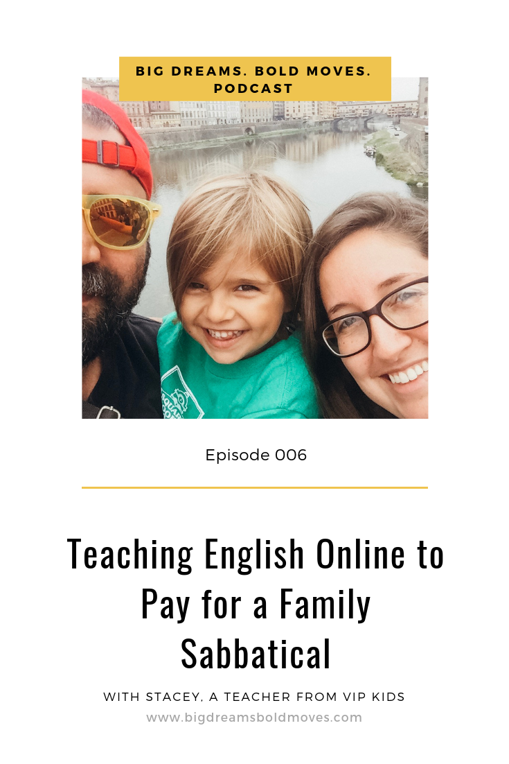 Hear how one family is funding their family #sabbatical by #teaching English online, which allows them to live in Italy and travel Europe. #remotework#digitalnomad #italy