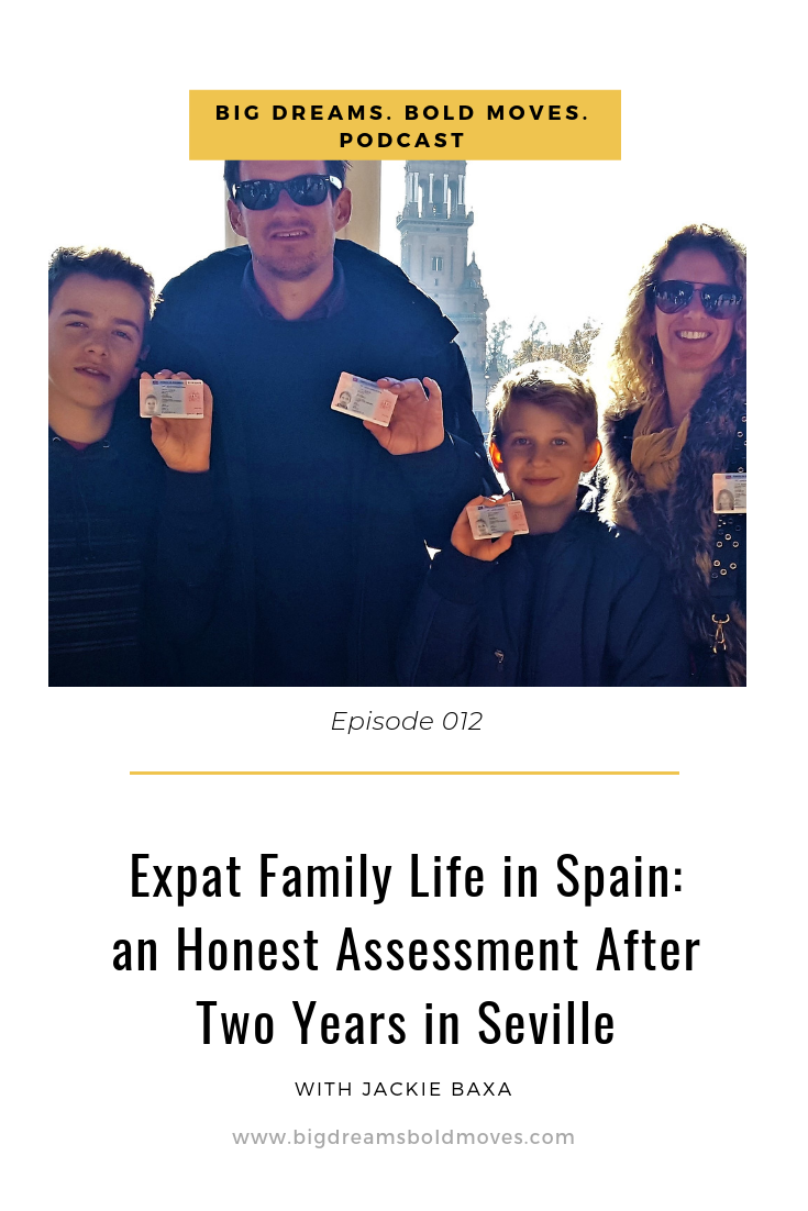 In this episode you will hear all the details of one American family's move to Spain, including the challenges of researching for the move, finding housing and getting school-aged children acculturated. You will also hear what you should consider when planning a bold international move with school-aged children, and we talk a bit about the non-lucrative visa in Spain.