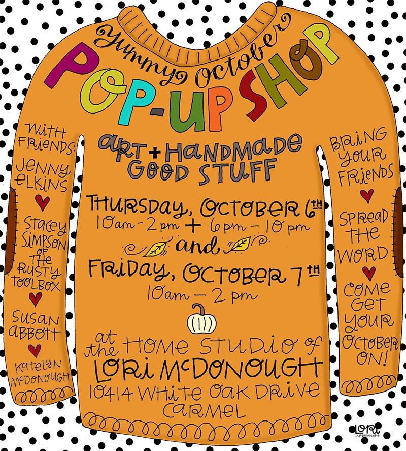 Fall Pop Up Shop Invitation