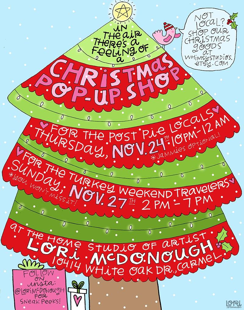 Christmas Pop Up Shop Invitation