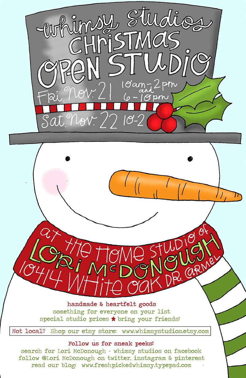 Christmas Open Studio Invitation