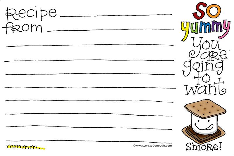 Recipe card - S'Mores