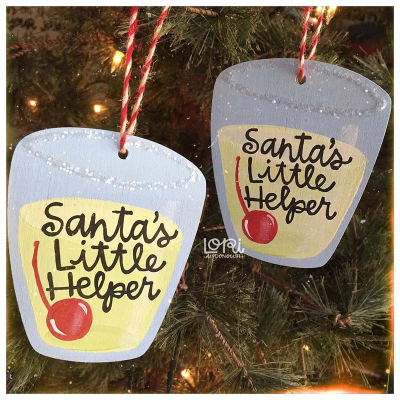 Santa's Little Helper Ornaments