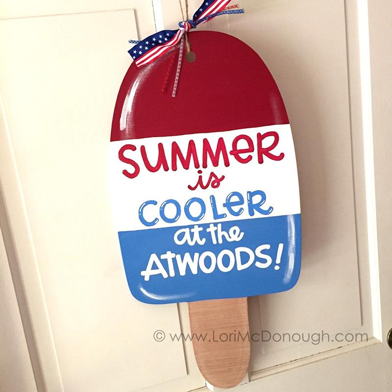 Personalized Popsicle Door Hanger