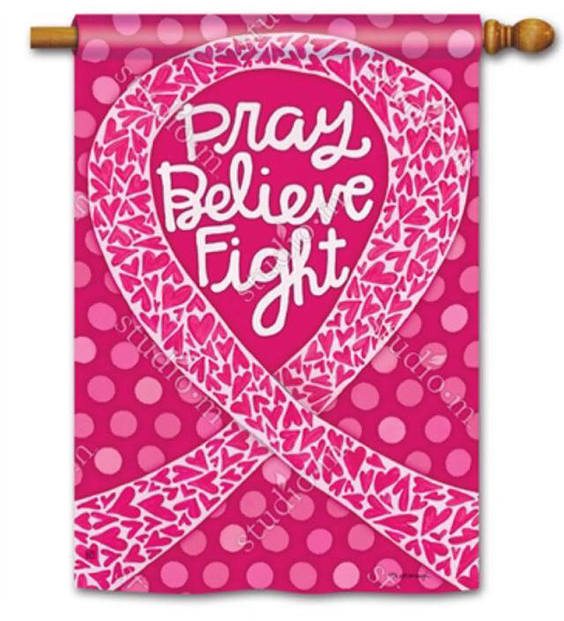 Breast Cancer Awareness Flag