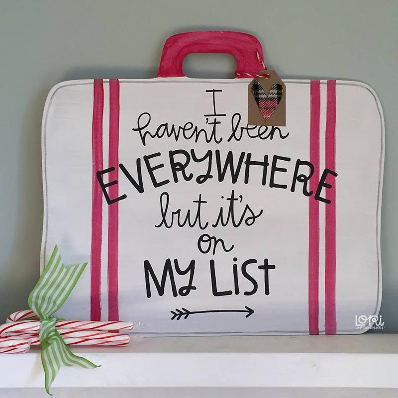 On My List Suitcase