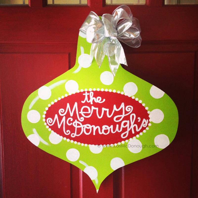 Personalized Ornament Door Hanger