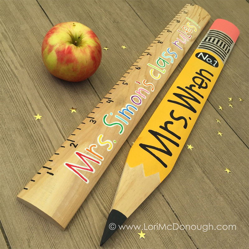 BESTSELLERS - Personalized Teacher Ruler and Pencil Gifts
