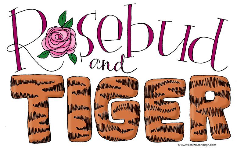 Rosebud and Tiger Illustration