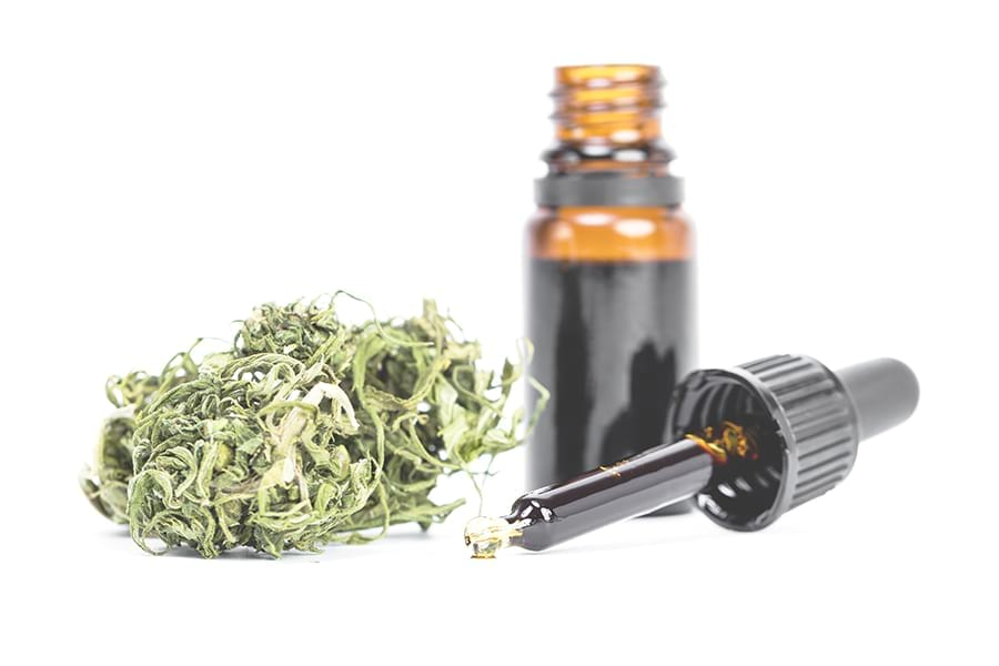 CBD oil made from the flowers of the hemp plant