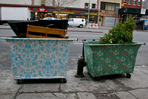New York Times Wallpapered Dumpsters