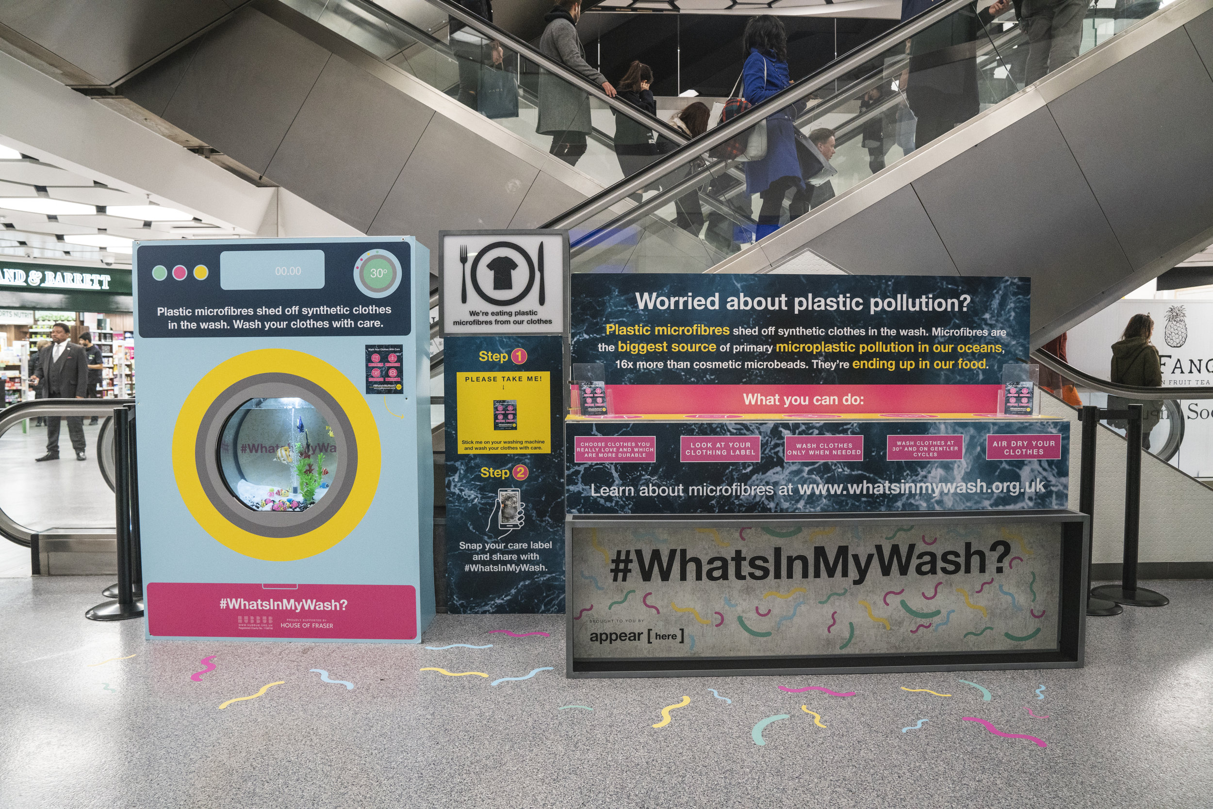 Whats In My Wash? is a campaign which raises awareness of plastic microfibres which are released form our clothing when we wash them. This microfibres are polluting ur oceans and currently contribute to over 1/3 of all microplastics in our oceans.