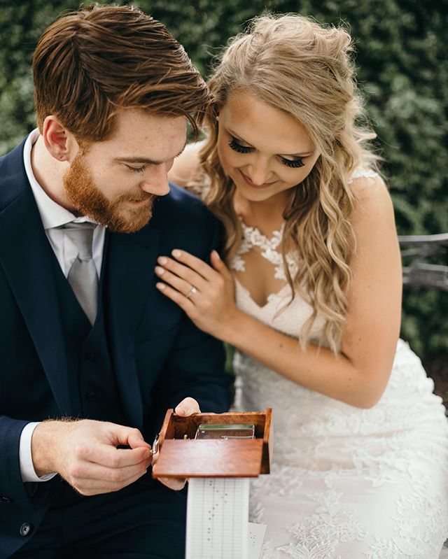 My jaw actually dropped when I saw the gift Justin made for Telia. He created the most precious music box that played their song! These two were some of the most intentional people I have ever met! 😍 Along with an engraved watch, Telia gave Justin something special too... swipe to see 😉 . . . . . #meagencphotography #lookslikefilm #kentuckyphotographer #kentuckyweddings #kentuckywedding #kentuckyweddingphotographer #lexingtonweddingphotographer #lexingtonwedding #henryclayestate  #bohowedding #radlovestories #loversandwildsouls #adventurousstorytellers #adventurouslovestories #elopementlove #justalittleloveinspo #elopement #authenticlove #junebugcommunity #junebugwedding #travelweddingphotography #muchlove_ig #gardenwedding #kybride #kybridemag #greenweddingshoes #weddinggiftsidea #authenticlove #authenticlovemag