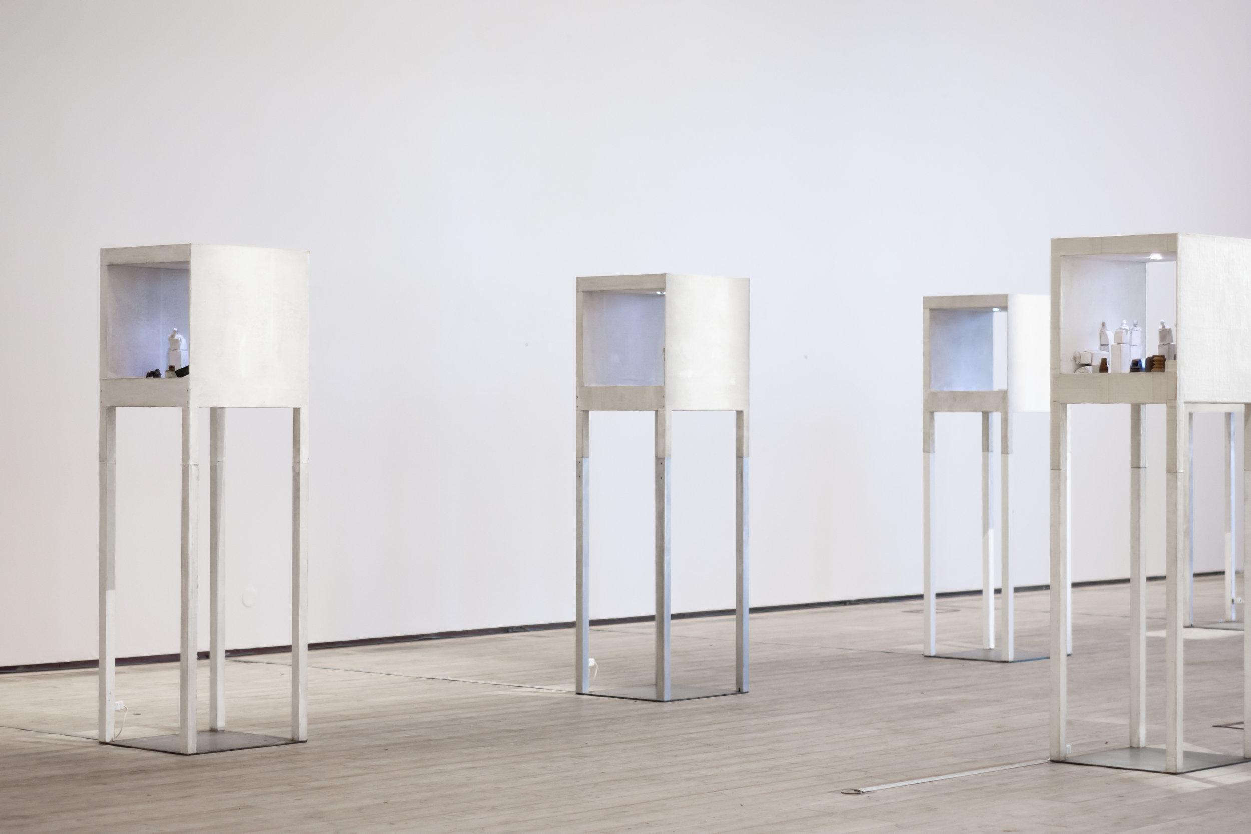 Scenes 1-10 installation view, Kristinehamns Art Museum winter 2018-19, foto Nina Simonen