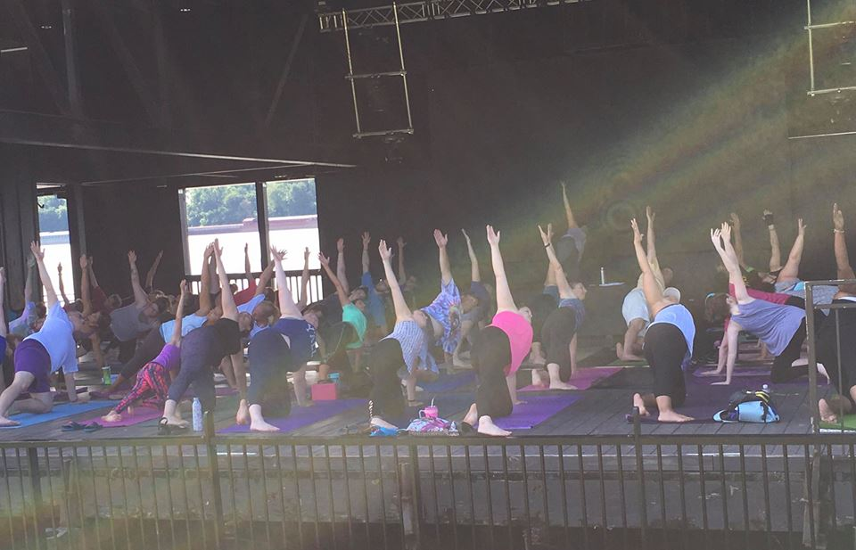 Free Yoga at Jeffersonville's RiverStage