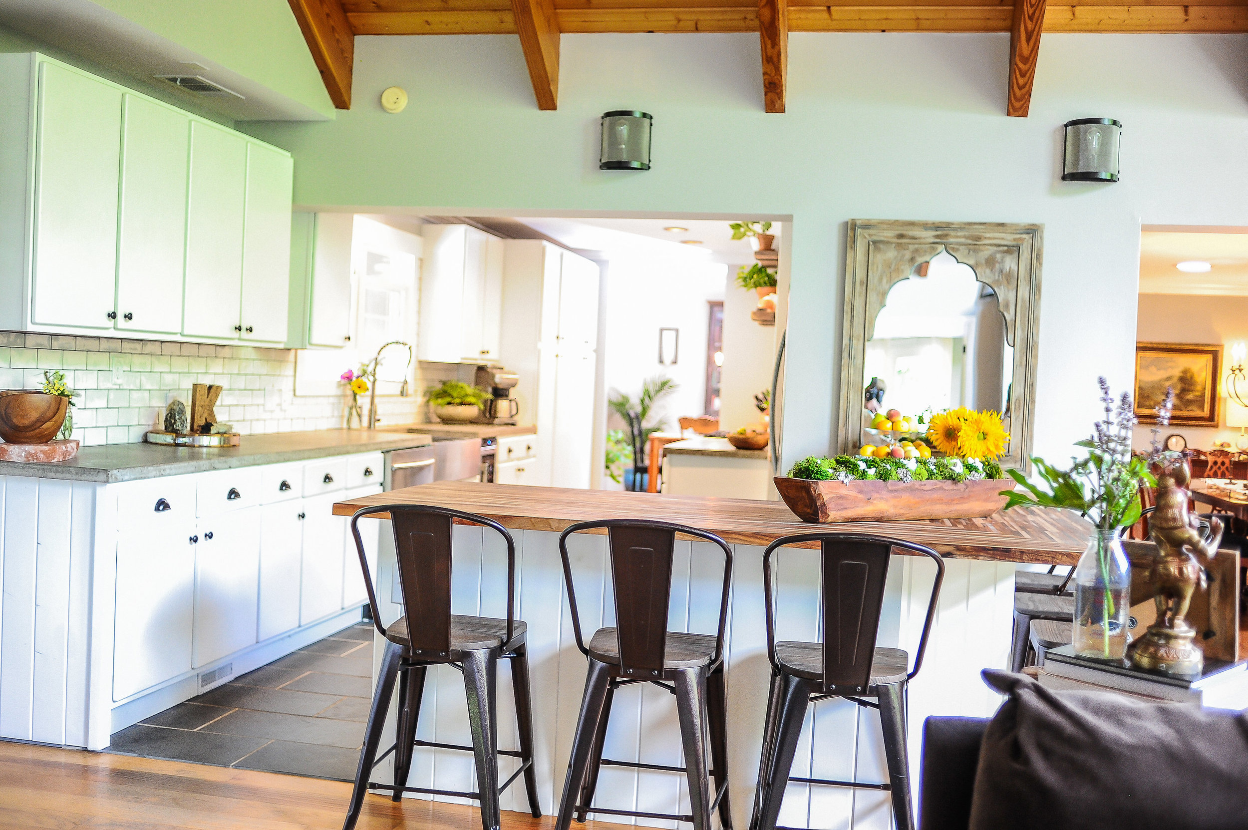 Photo of the kitchen space inside the Farmhouse