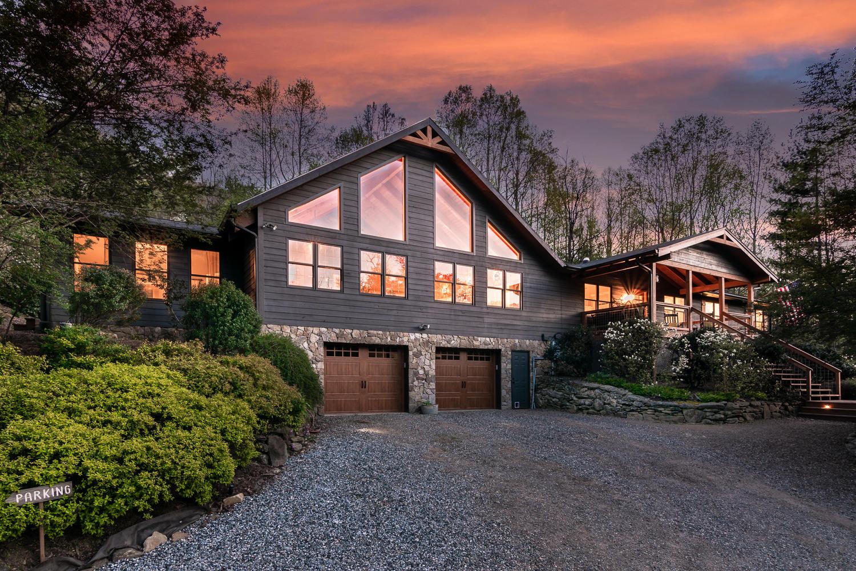 Outdoor photo of the Farmhouse at dusk
