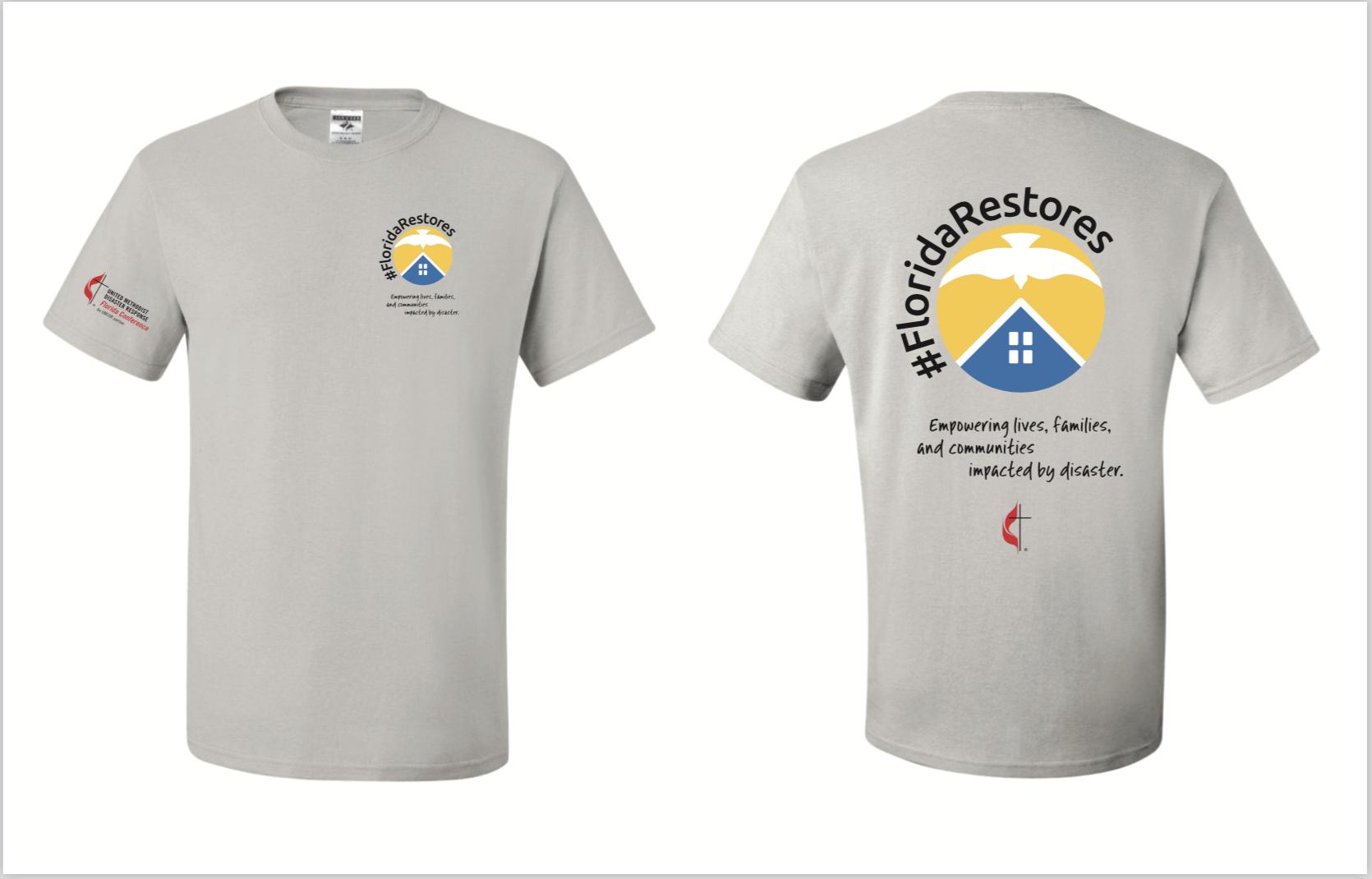 Mock up of Florida Restores shirt.png