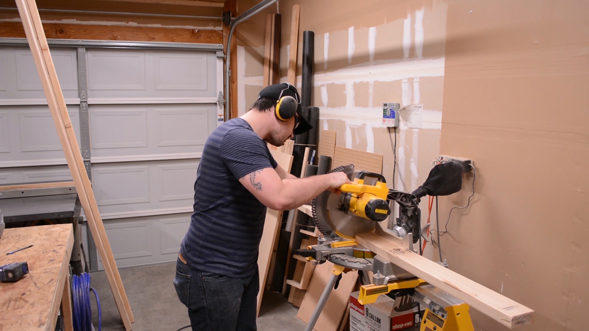Cutting dimensional lumber to length