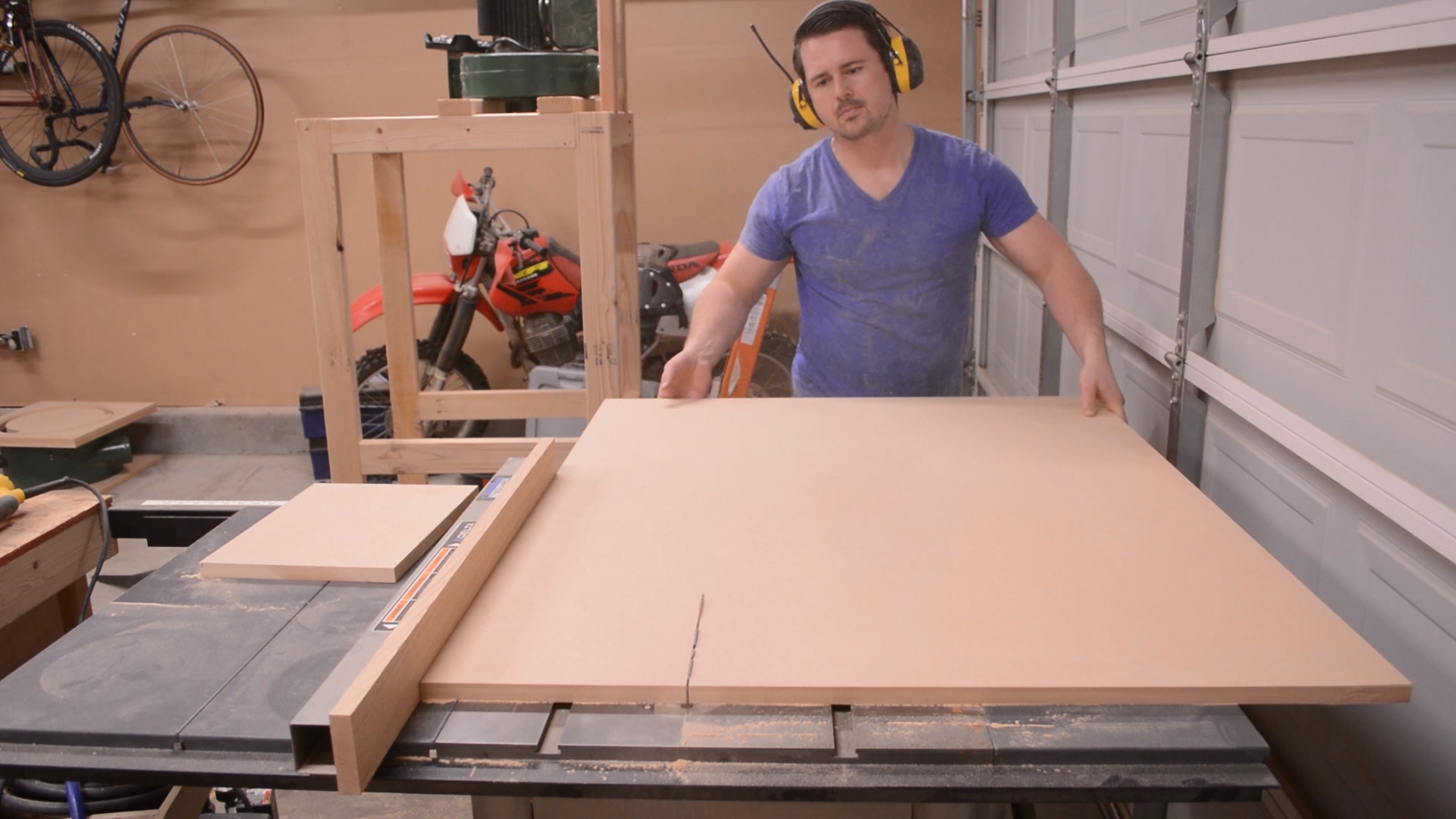 Cutting a third set of panels out of medium density fiberboard