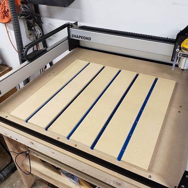 I got the z-axis all squared away and the waste board almost finished. Hopefully tomorrow I can get the waste board surfaced and get to making projects. I have wedding stuff to make! #cnc #cncmachining #woodworker #woodworking #woodshop #woodshop #woodshoplife #woodworkerlife  #furniture #wood #woodcraft #woodshop_warrior #woodporn #woodworkforall #woodworkerofinst #garageshop #carpenter #carpentry #diy #doityourself #bestigwoodworking #woodreview #goldencoastwoodworks