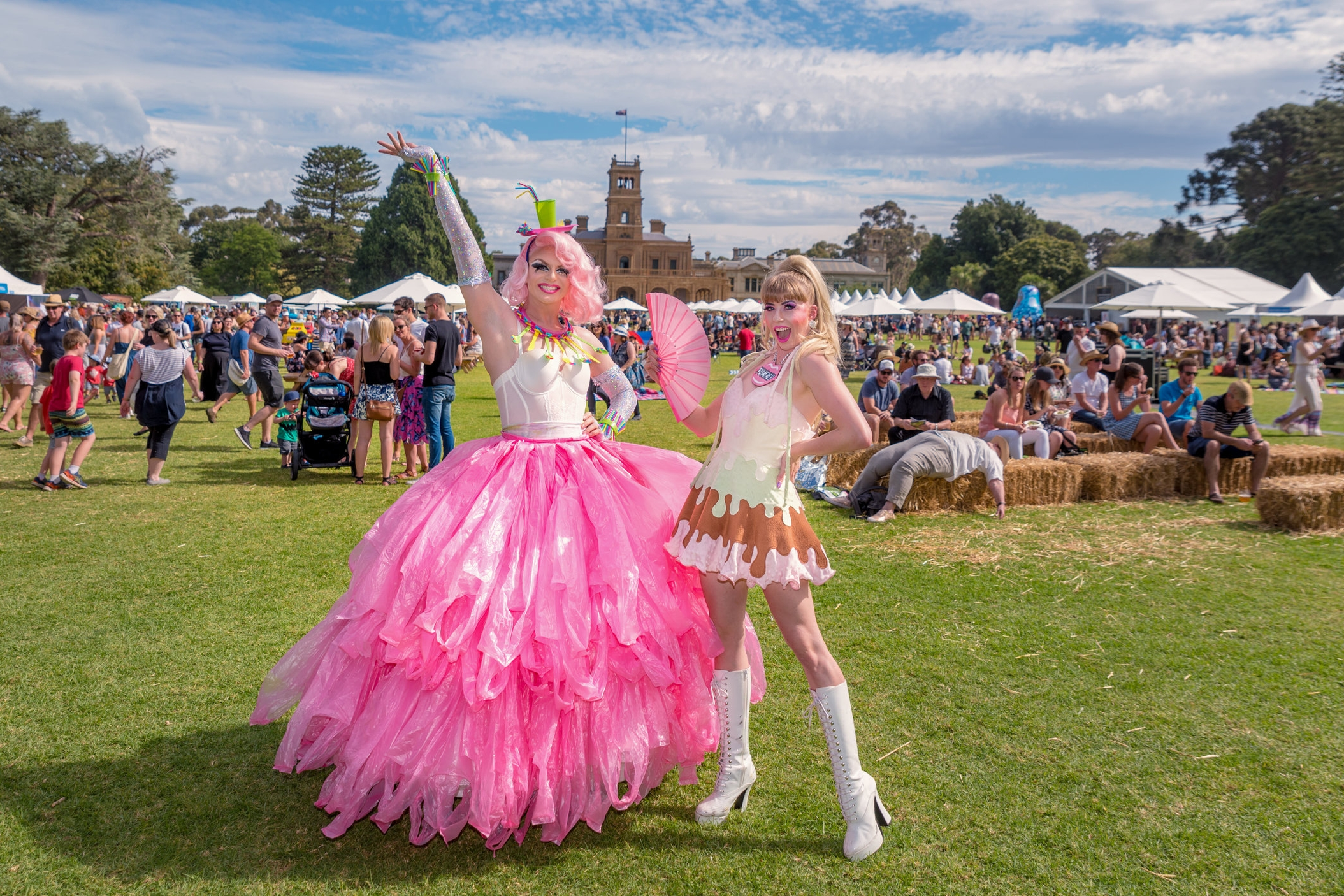 Photograph of Valerie Hex and Hannie Helsden for Wyndham City Fromage a Trois Festival.