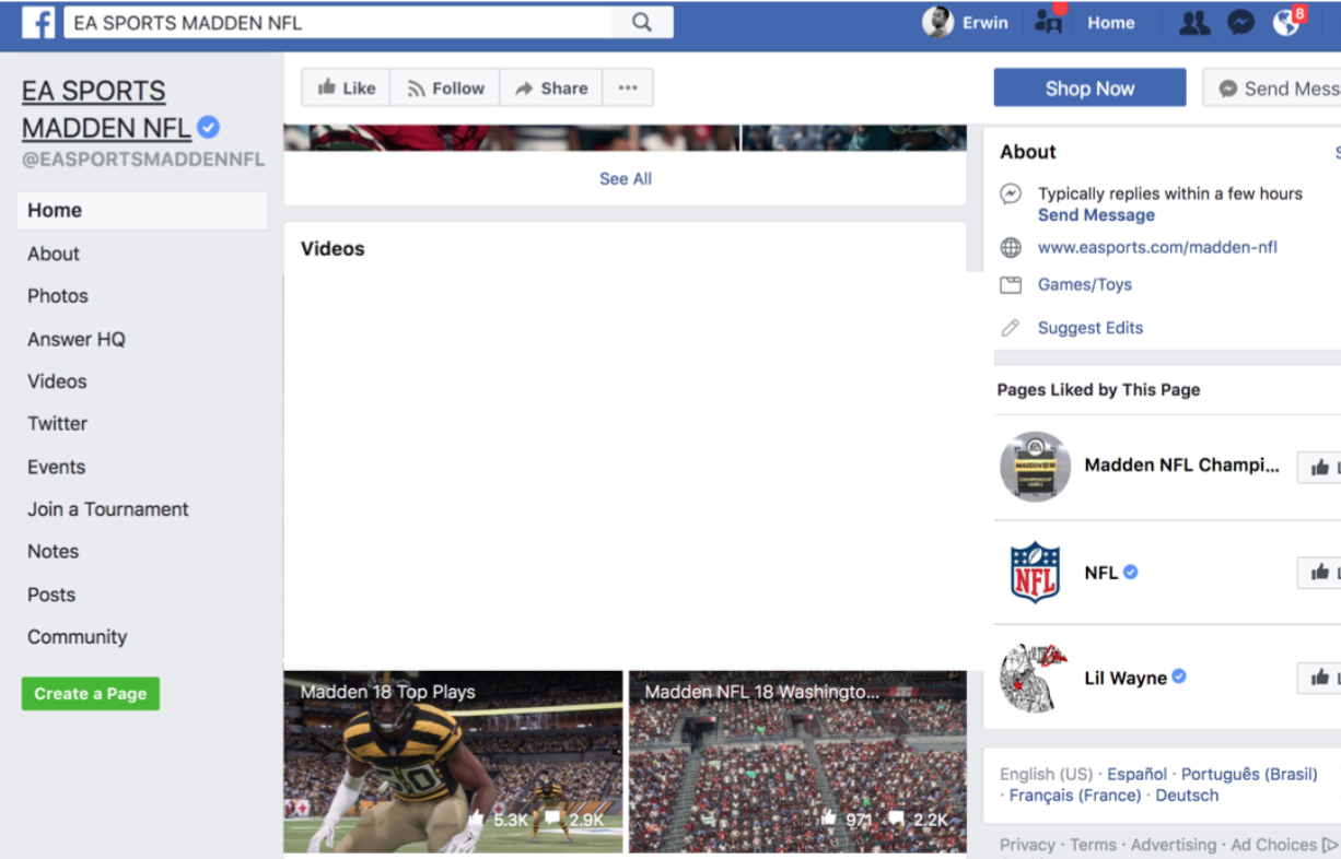 Social - To target parents, Camp Madden will post sponsored interactive highlights on Facebook.
