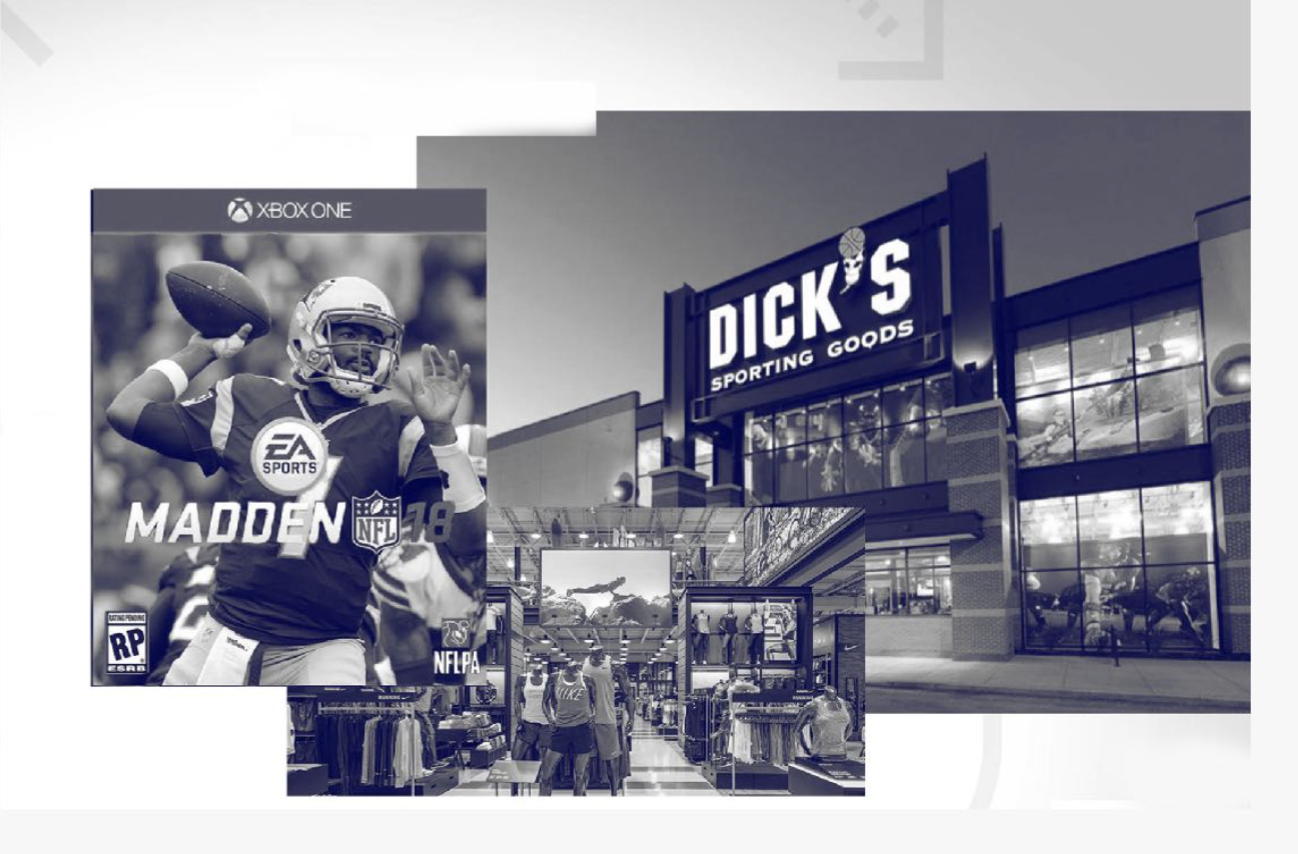 Point of Sale - Madden will be sold alongside football gear at sporting goods stores. Showing that Madden is part of the essentials.