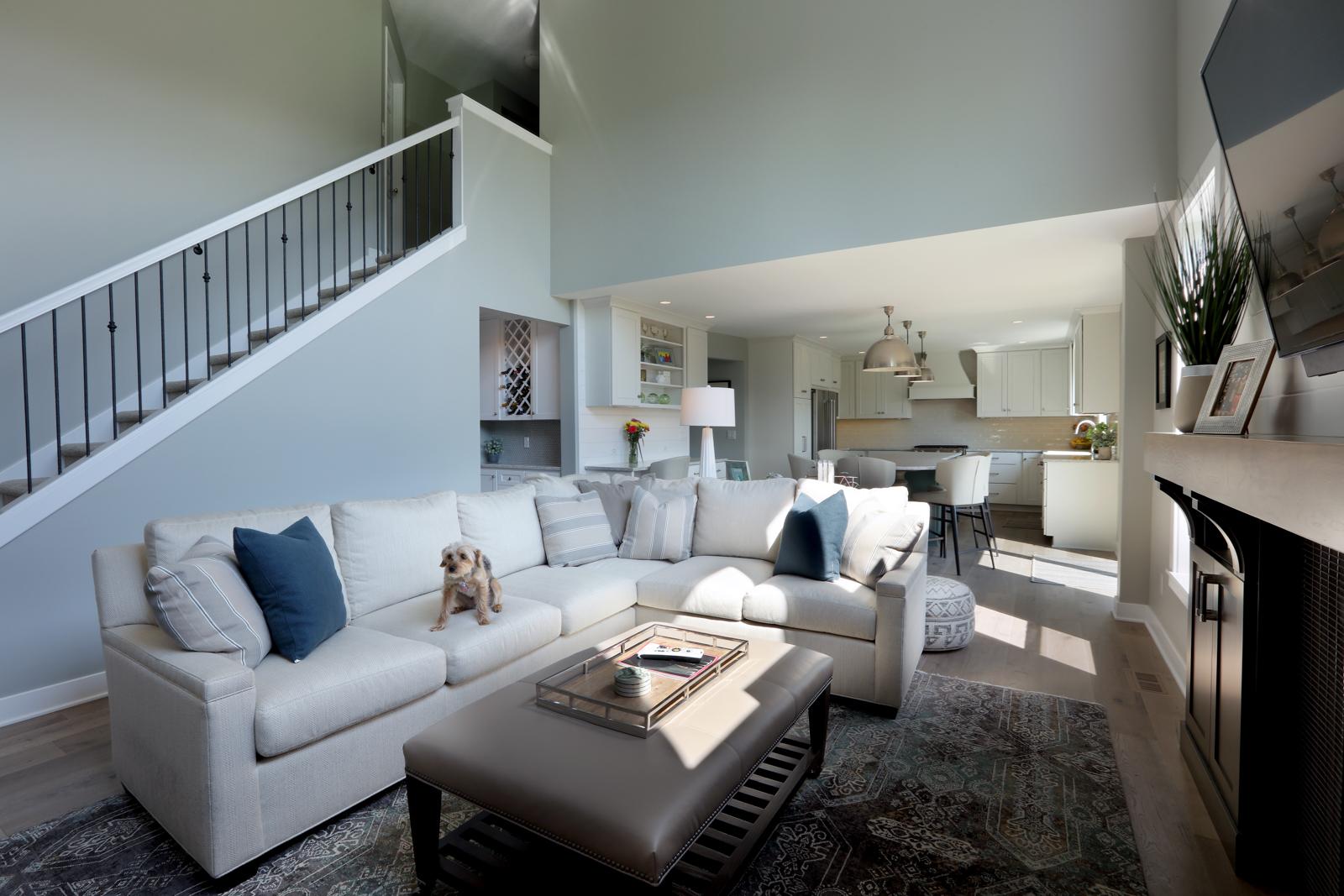 contemporary living room design, online interior design services by Via Design,