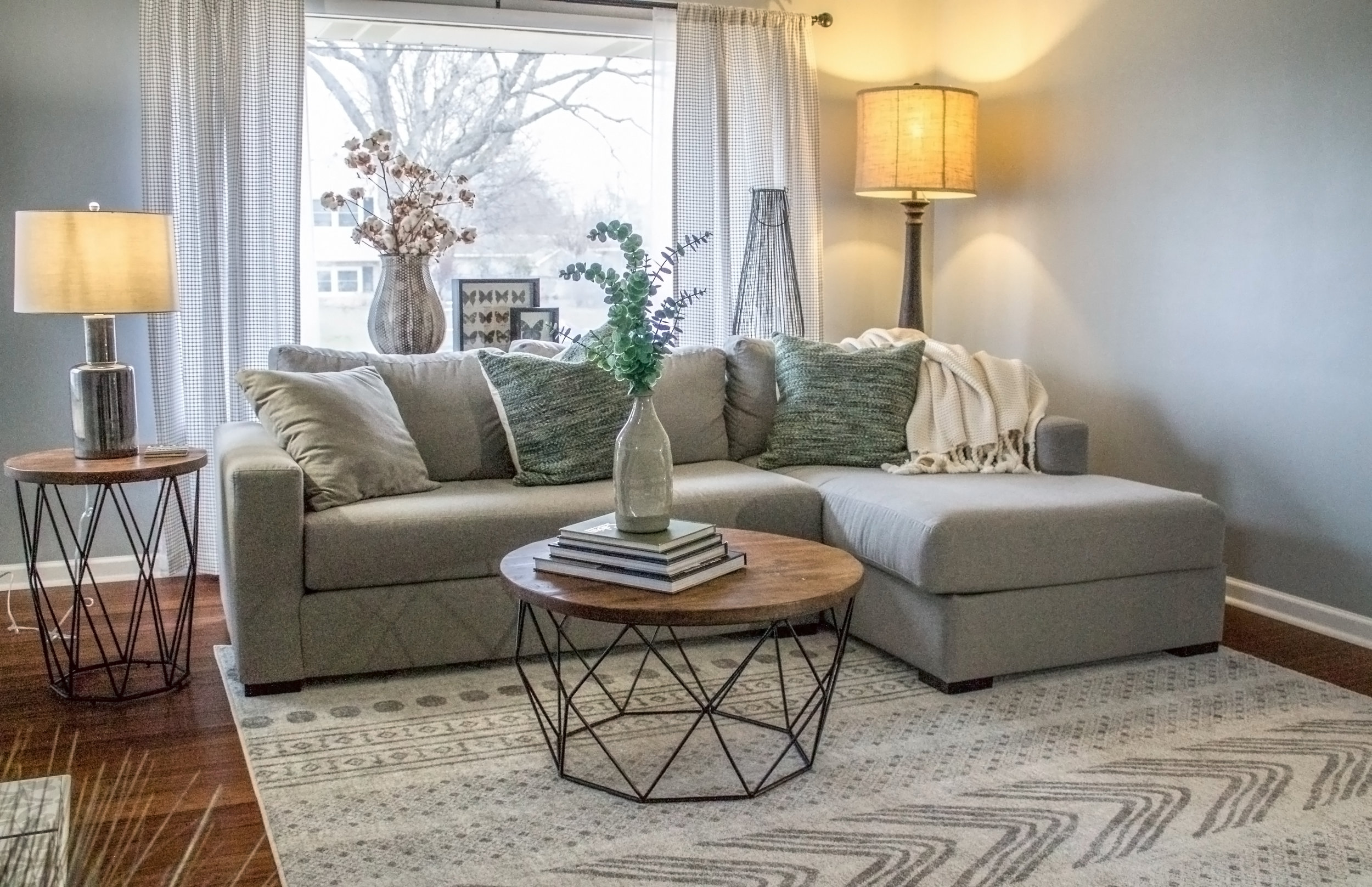 living room designed by an online interior designer,