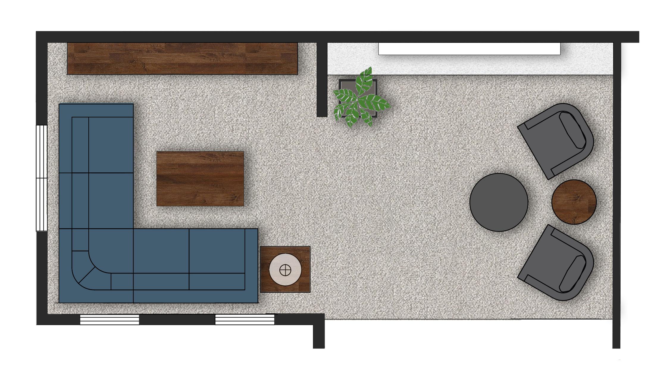 Great room floor plan 1.