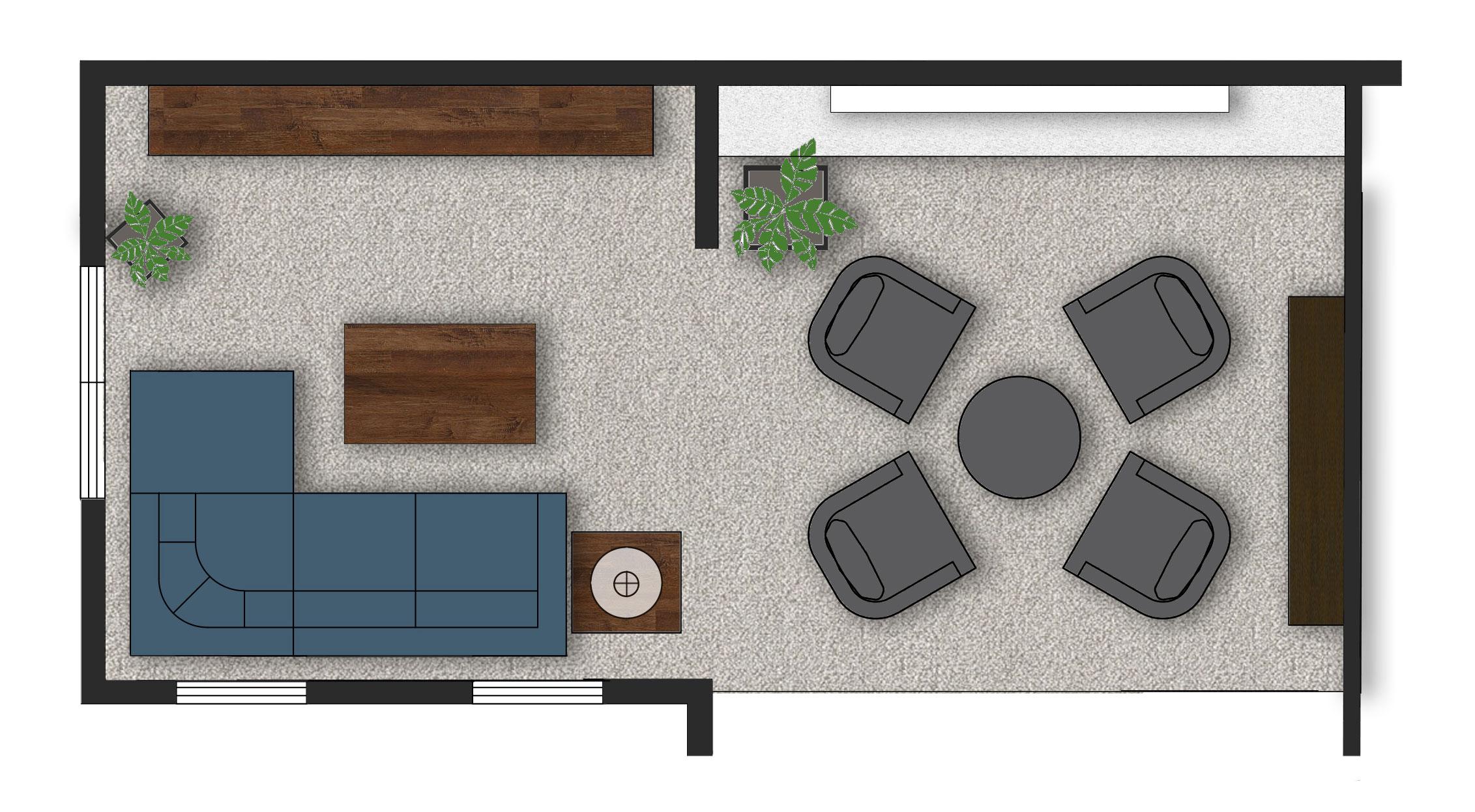 Great room floor plan 2.