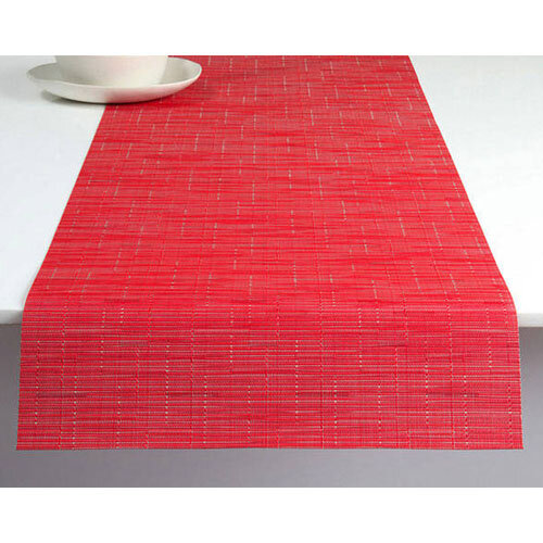 Chilewich Bamboo Table Runner Poppy Abbreviated Design